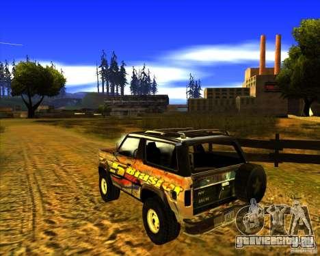 Blazer XL FlatOut2 для GTA San Andreas вид сзади слева