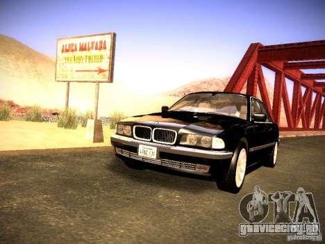 BMW 730i e38 1997 для GTA San Andreas вид справа