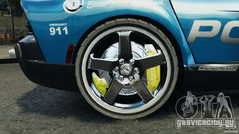 Dodge Viper SRT-10 ACR ELITE POLICE для GTA 4 вид сзади