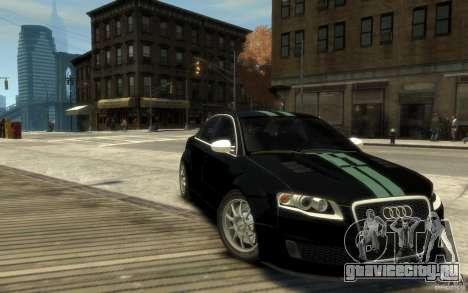Audi RS4 для GTA 4 вид сзади