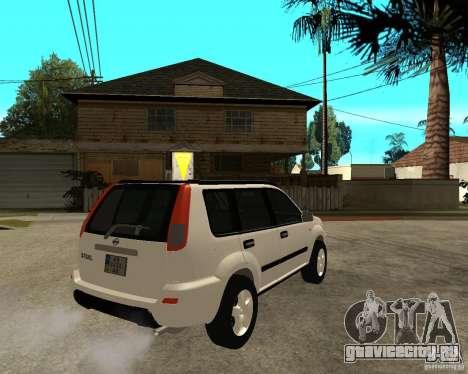 NISSAN X-TRAIL 2001 для GTA San Andreas вид сзади слева