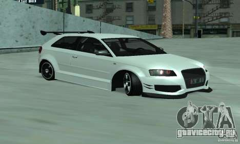 Audi S3 Full tunable для GTA San Andreas вид слева