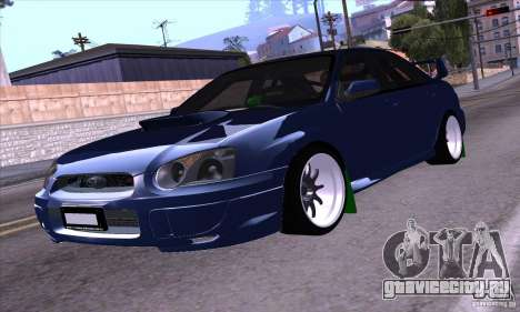 Subaru Impresa WRX light tuning для GTA San Andreas вид сзади слева