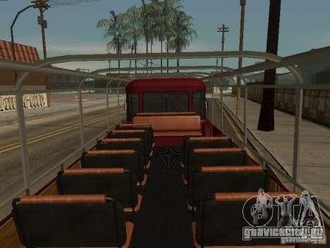 ЛиАЗ 677 Экскурсионный для GTA San Andreas вид изнутри