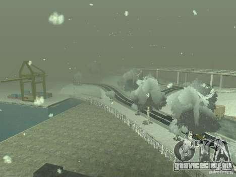Снег v2.0 для GTA San Andreas восьмой скриншот