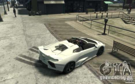 Lamborghini Reventon Roadster REDUX [EPM] для GTA 4 вид справа
