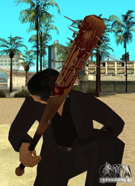 Кровавая бита с гвоздями HD для GTA San Andreas
