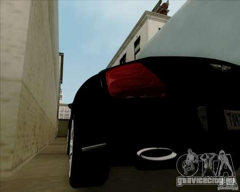 Bentley Continental GT V1.0 для GTA San Andreas вид изнутри