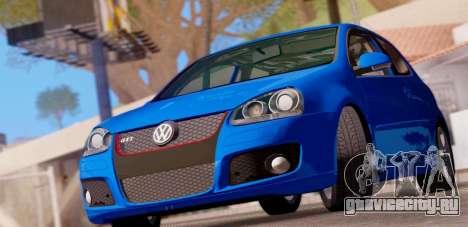 VW Golf V GTI 2006 для GTA San Andreas вид сзади слева