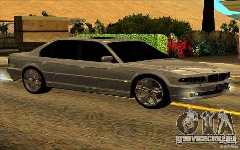BMW 750iL E38 для GTA San Andreas вид снизу