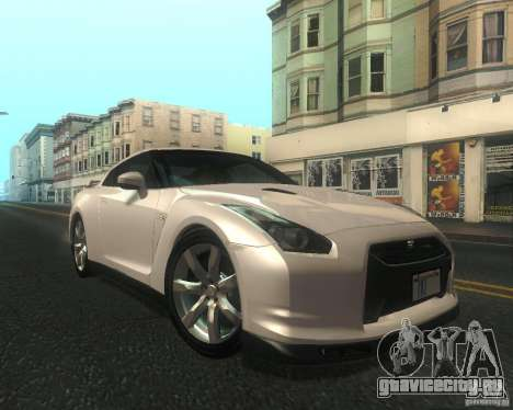 Nissan GTR R35 Spec-V 2010 Stock Wheels для GTA San Andreas вид изнутри