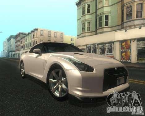Nissan GTR R35 Spec-V 2010 Stock Wheels для GTA San Andreas вид изнутри
