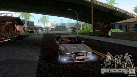 Audi S8 2012 для GTA San Andreas вид слева