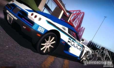 Koenigsegg CCX Police для GTA San Andreas вид сверху