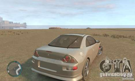 Mitsubishi Eclipse Spyder для GTA 4 вид справа