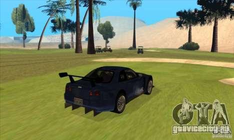 Nissan Skyline R34 GT-R LM для GTA San Andreas вид справа