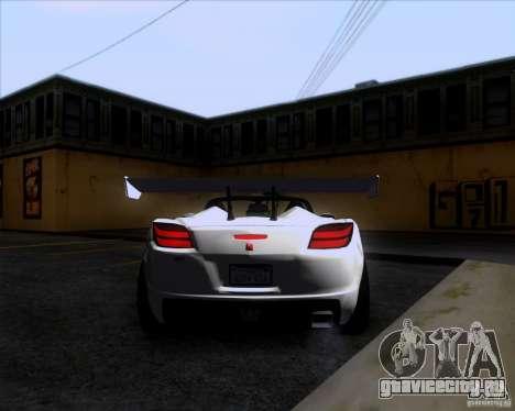 Saturn Sky Roadster для GTA San Andreas вид справа