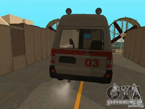 УАЗ Симба Скорая помощь для GTA San Andreas вид сзади слева