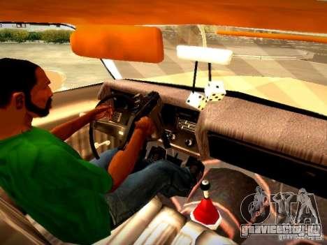 Chevrolet El Camino 1976 для GTA San Andreas вид изнутри