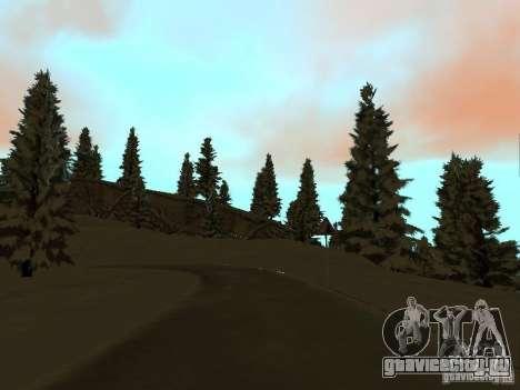 Зимняя трасса для GTA San Andreas шестой скриншот