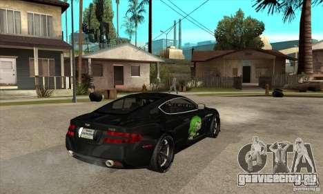 Aston Martin DB9 NFS PS Tuning для GTA San Andreas вид справа