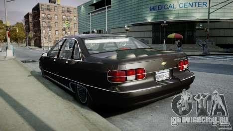 Chevrolet Caprice FBI v.1.0 [ELS] для GTA 4 вид сбоку