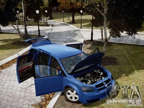 Dodge Grand Caravan SXT 2008 для GTA 4 вид сбоку