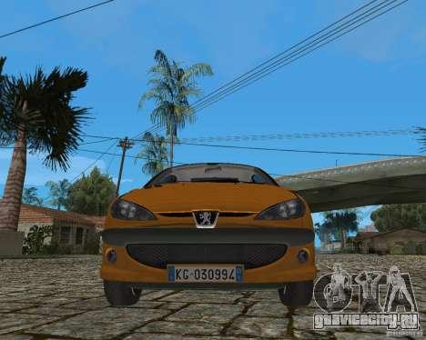 Peugeot 306 для GTA San Andreas вид изнутри