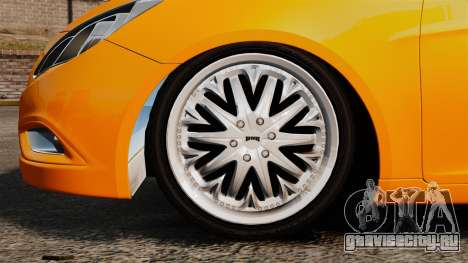 Hyundai Sonata 2011 v2.0 для GTA 4 вид сзади