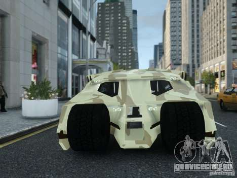 HQ Batman Tumbler для GTA 4 вид сзади