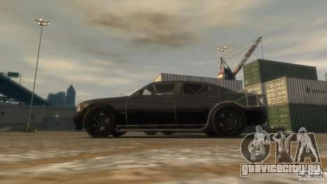 Dodge Charger Fast Five для GTA 4 вид сзади слева