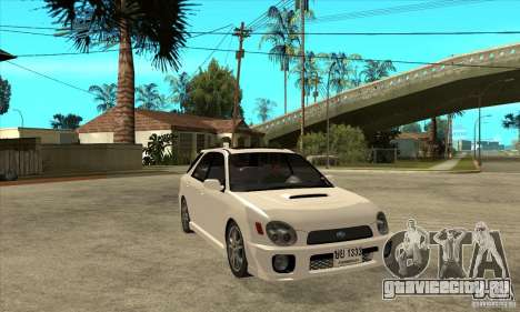 Subaru Impreza WRX Wagon 2002 для GTA San Andreas вид сзади