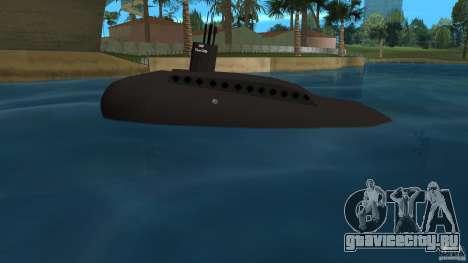 Vice City Submarine without face для GTA Vice City вид слева