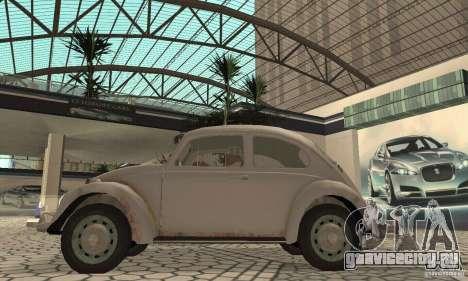 Volkswagen Beetle 1963 для GTA San Andreas вид сзади слева
