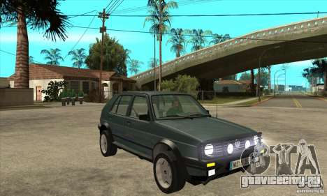 Volkswagen Golf Country MkII Syncro 4x4 1991 для GTA San Andreas вид сзади