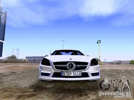 Mercedes-Benz SLK55 AMG 2012 для GTA San Andreas вид сверху