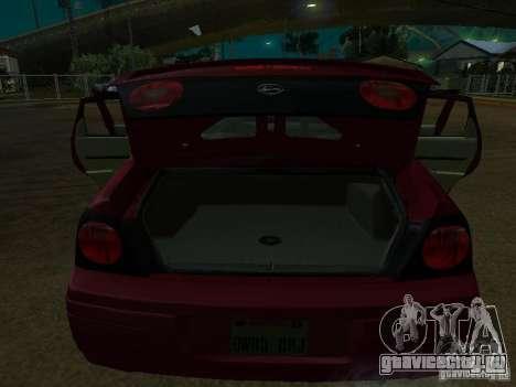Chevrolet Impala 2003 для GTA San Andreas вид изнутри