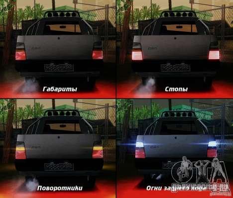СЕАЗ Ока Пикап для GTA San Andreas вид снизу