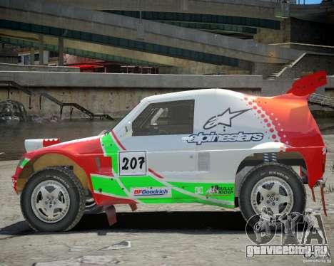 Mitsubishi Pajero Proto Dakar EK86 Винил 2 для GTA 4 вид сзади
