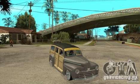 Ford Woody Custom 1946 для GTA San Andreas вид сзади