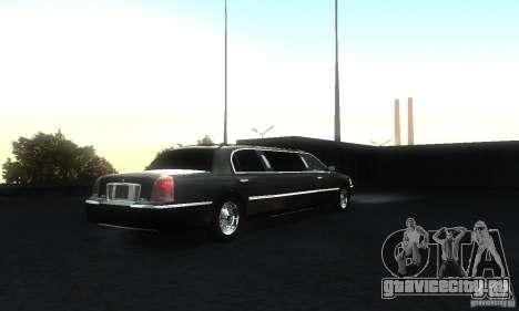 Lincoln Towncar limo 2003 для GTA San Andreas вид справа