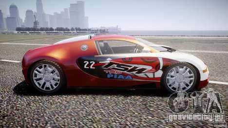 Bugatti Veyron 16.4 v1 для GTA 4 вид слева