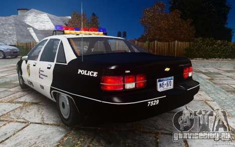 Chevrolet Caprice 1991 Police для GTA 4 вид сзади слева