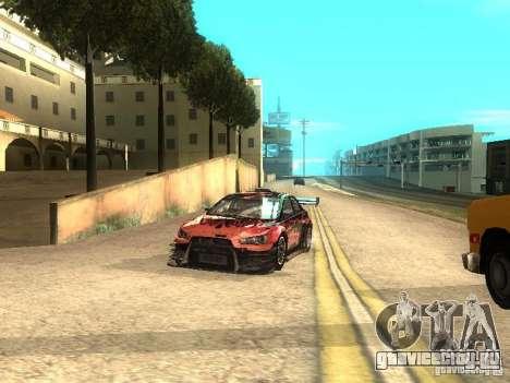 Mitsubishi Lancer Evo X Trailblazer Dirt2 для GTA San Andreas вид сзади