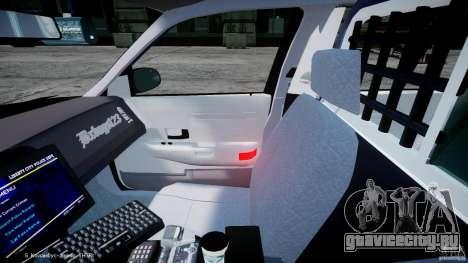 Ford Crown Victoria Massachusetts Police [ELS] для GTA 4 вид сзади