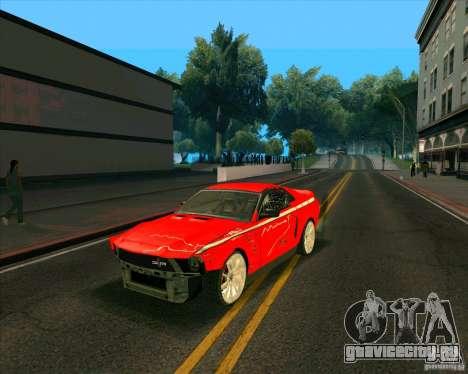 Shelby GT500 для GTA San Andreas вид справа