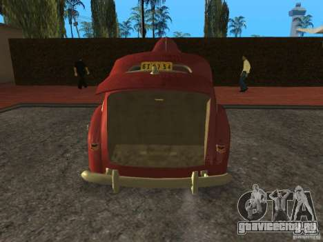 Ford 1940 v8 для GTA San Andreas вид сзади