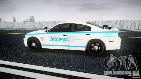 Dodge Charger NYPD 2012 [ELS] для GTA 4 вид слева
