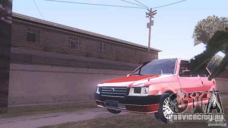 Fiat Uno Mile Fire Original для GTA San Andreas вид сзади слева