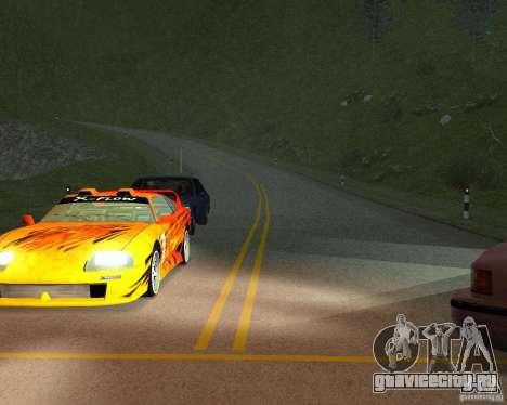 Новые дороги в San Fierro для GTA San Andreas седьмой скриншот